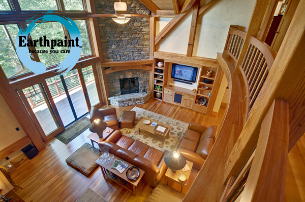 natural wood finish for timber frame homes